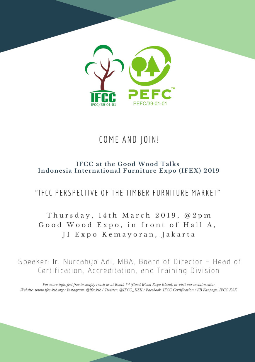 IFCC at the Good Wood Talks - Indonesia International Furniture Expo (IFEX) 2019